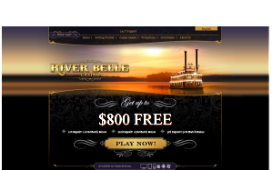 Screenshot of River Belle Casino website